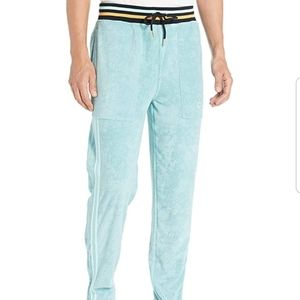 NWT CHAMPION Men's French Terry Warm-Up Aqua Ankle